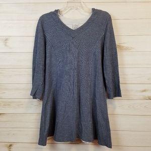 Parsley & Sage blue hoodie tunic top